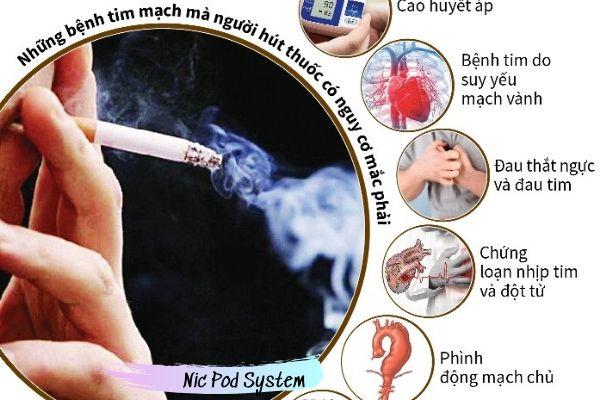 Hút thuốc lá ảnh hưởng tới tim mạch